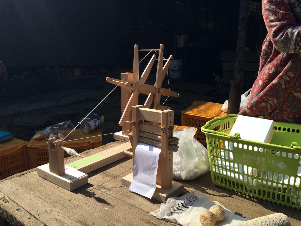糸を紡ぐ道具